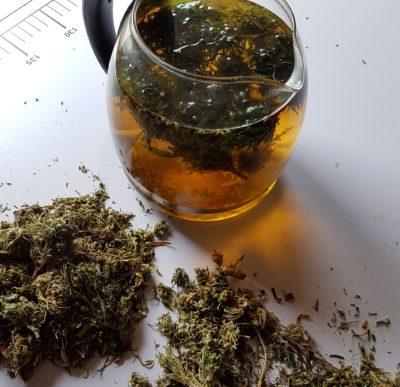Crushed Hemp Bud Tea