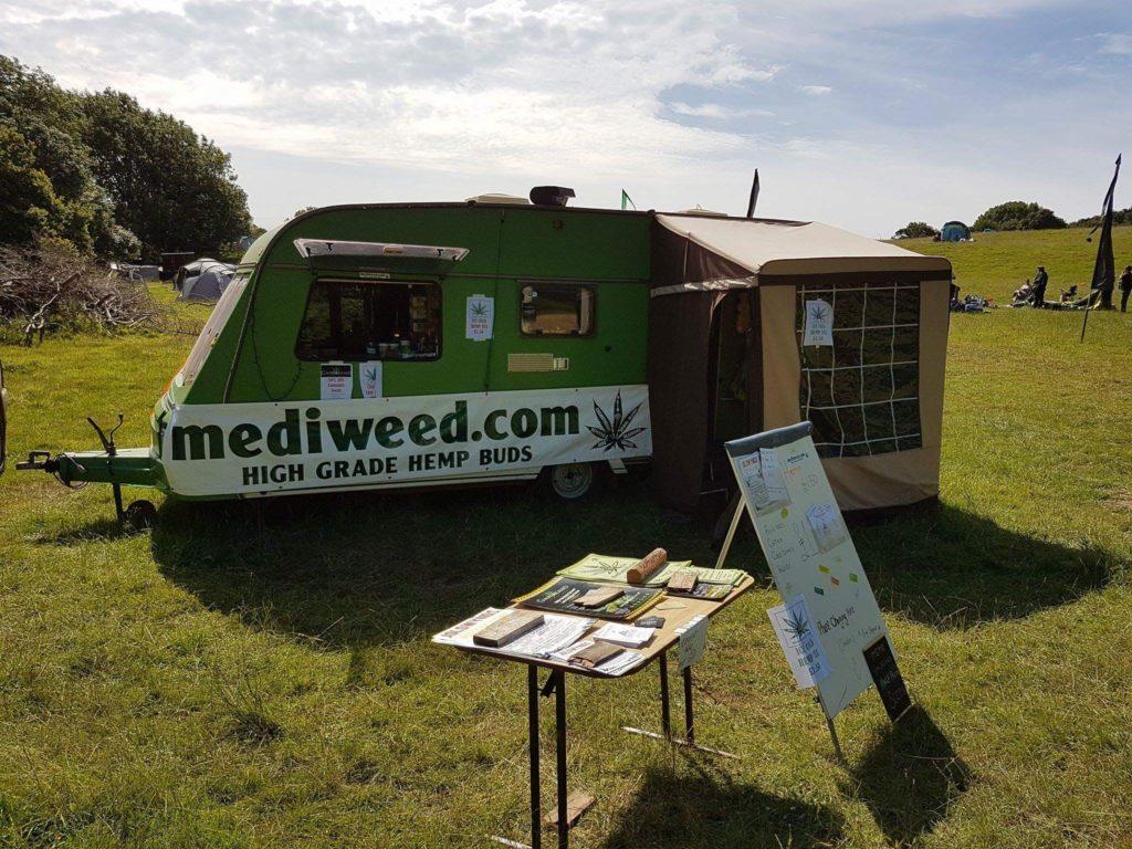Mediweed with the Hempvan at Wilkswood Festival