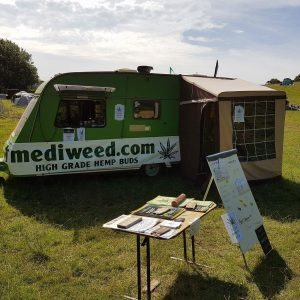 Mediweed with the Hempvan at Wilkswood Festival