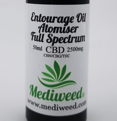 Entourage CBD Oil 2500mg Full Spectrum Atomiser