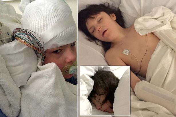 "Epileptic boy in hospital as ""seizures intensify"""